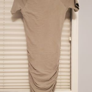 James Perse Khaki Ruged Fitted Dress Size 1